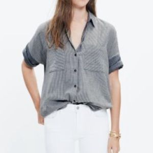 Madewell Courier Button Down Shirt Top